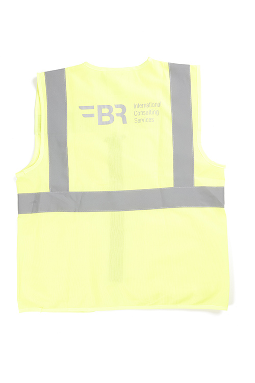 safety vest yellow from the back
