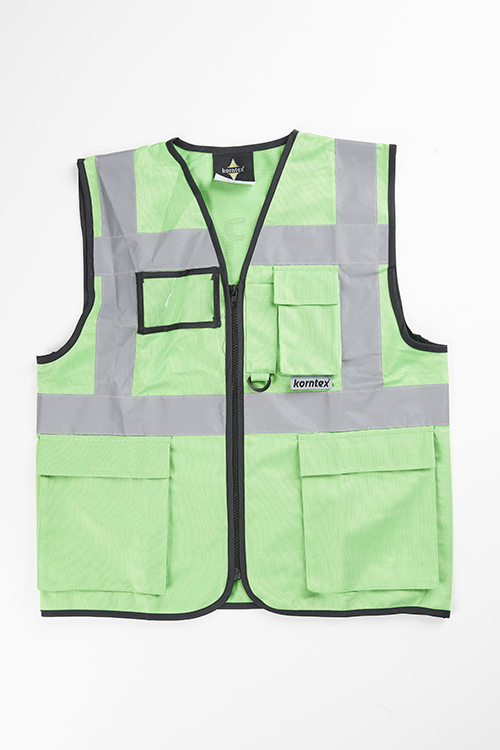 safety vest green from the front