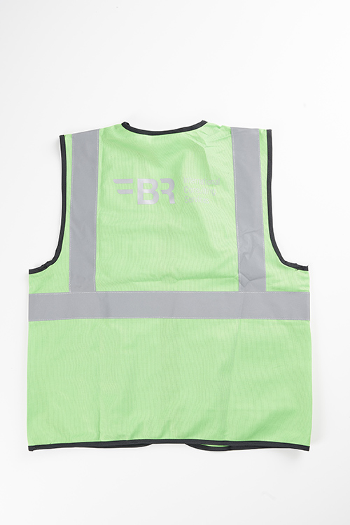 safety vest green from the back