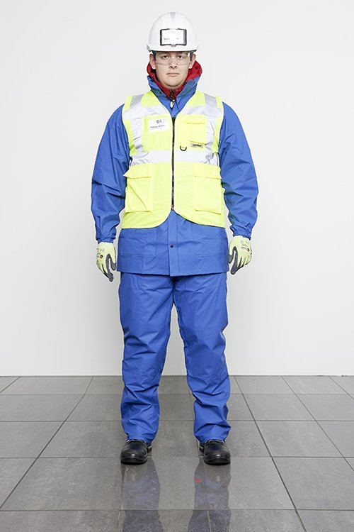presentation of safety clothing for cold weather